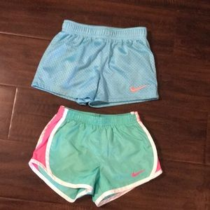 Two pairs of Nike shorts